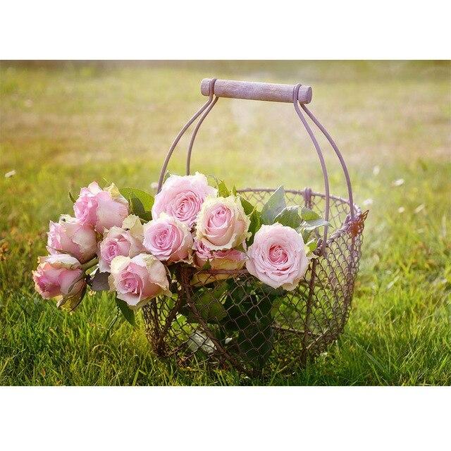 DIY 5D Diamond Embroidery Painting Flower Pink Rose Full Square diamond painting Cross Stitch mosaic wall  wedding Decor