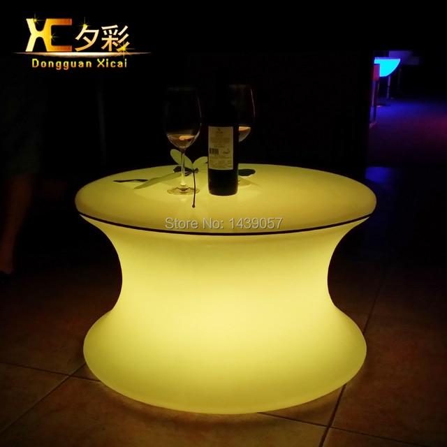 Kunststoff FÜHRTE Bar Tisch Leucht Kaffee Trinken Beistelltisch Für ...