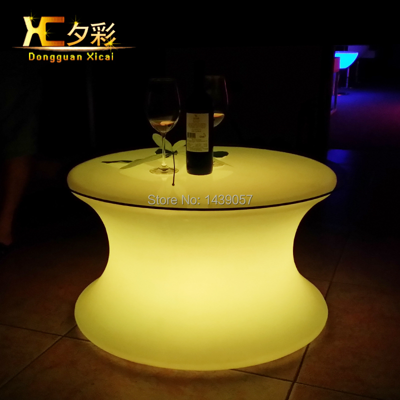 Plastic LED Bar Table Luminous Coffee Drinking End Table For Living Room Dining Room Garden Ceremony Party led luminous bar table plastic color changing coffee dining room garden drinking tables