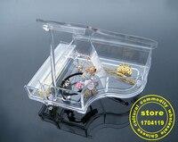 Piano rack boîte de rangement Cristal piano style de transparent acrylique chef panier boîte de rangement maquillage organisateur boîte à bijoux