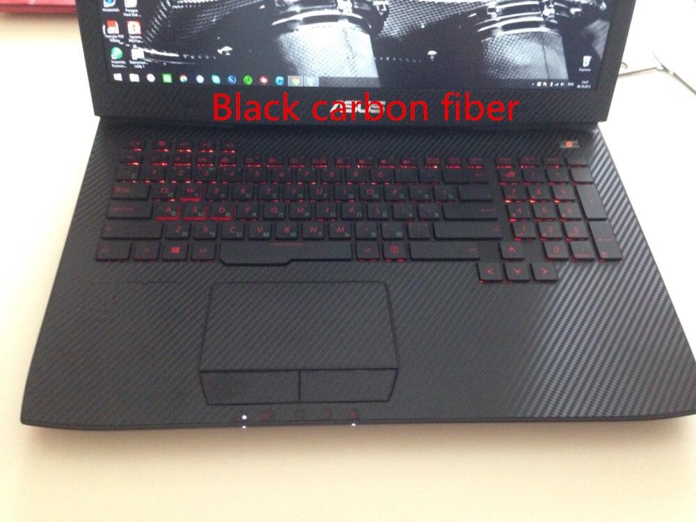 Специальные виниловые наклейки для ноутбука из углеродного волокна для ASUS G75 G75VW G75VX 17,3 дюйма