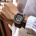 BAOGELA брендовые Модные мужские спортивные водонепроницаемые наручные часы с календарем, квадратные многофункциональные мужские часы с сили...