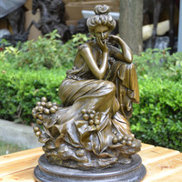 Statue Of The Goddess Of European Style Ornaments Rose Crafts Jewelry Gift Home Furnishing Study