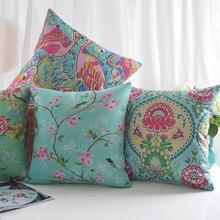 """Подушка """"фламинго"""" наволочки дворцовые цветы птицы наволочки бабочки льняные хлопковые наволочки для подушки украшения спальни дивана"""