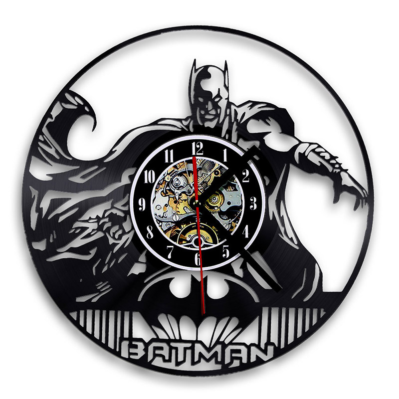 free stand can be personalised Batman CD Clock