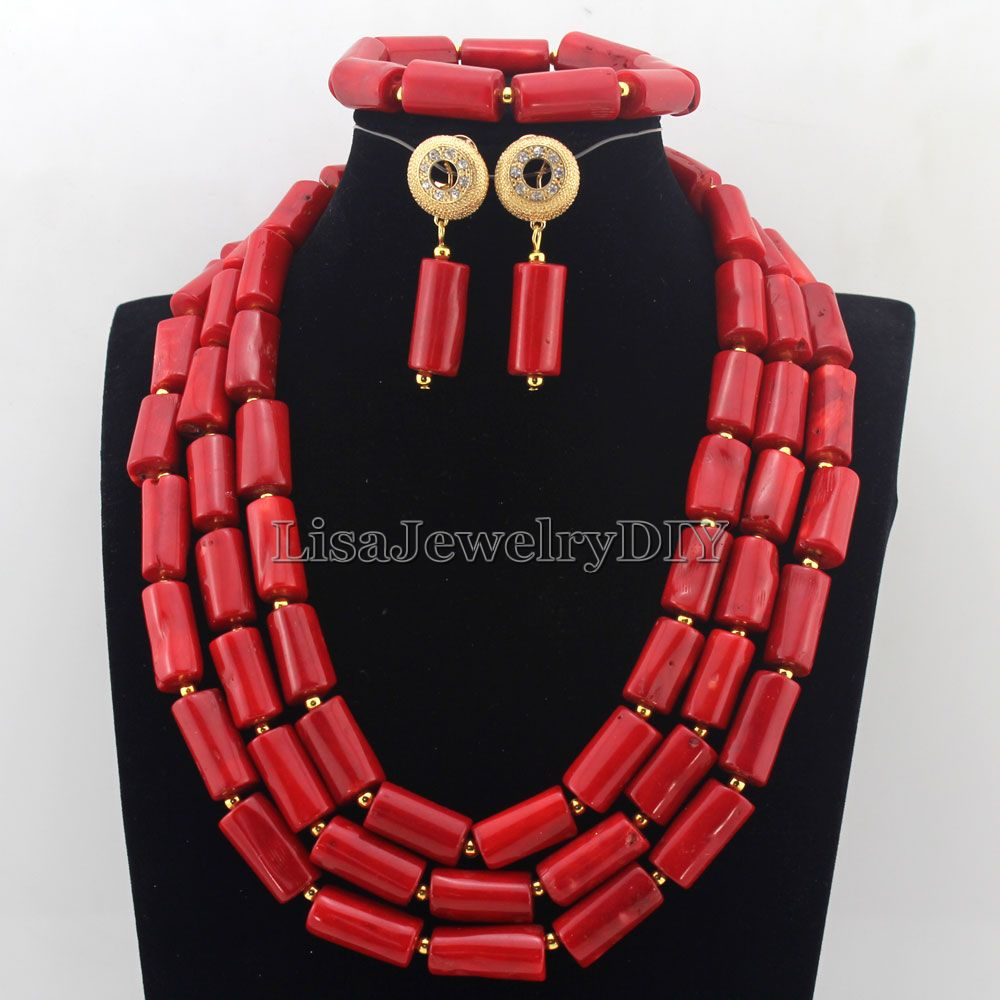2019 Red African Coral Beads Jewelry Sets Fashion Nigerian Wedding African Costume Beads Jewelry Set Free Shipping HD75272019 Red African Coral Beads Jewelry Sets Fashion Nigerian Wedding African Costume Beads Jewelry Set Free Shipping HD7527