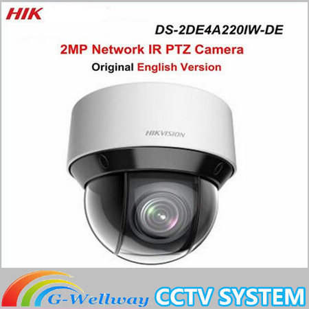 DHL Free shipping English version DS-2DE4A220IW-DE 20X Optical zoom 2MP Network mini outdoor indoor PTZ Dome Camera POE 50m IR free shipping ds 2df5274 a original english version 1 3mp network speed dome 20x optical zoom camera