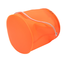 18cm Portable Foldable EVA Bucket Shrink Carp Fishing Accessories Fishing Tackle Round For Live Fish Water Storage Pesca 2 Color