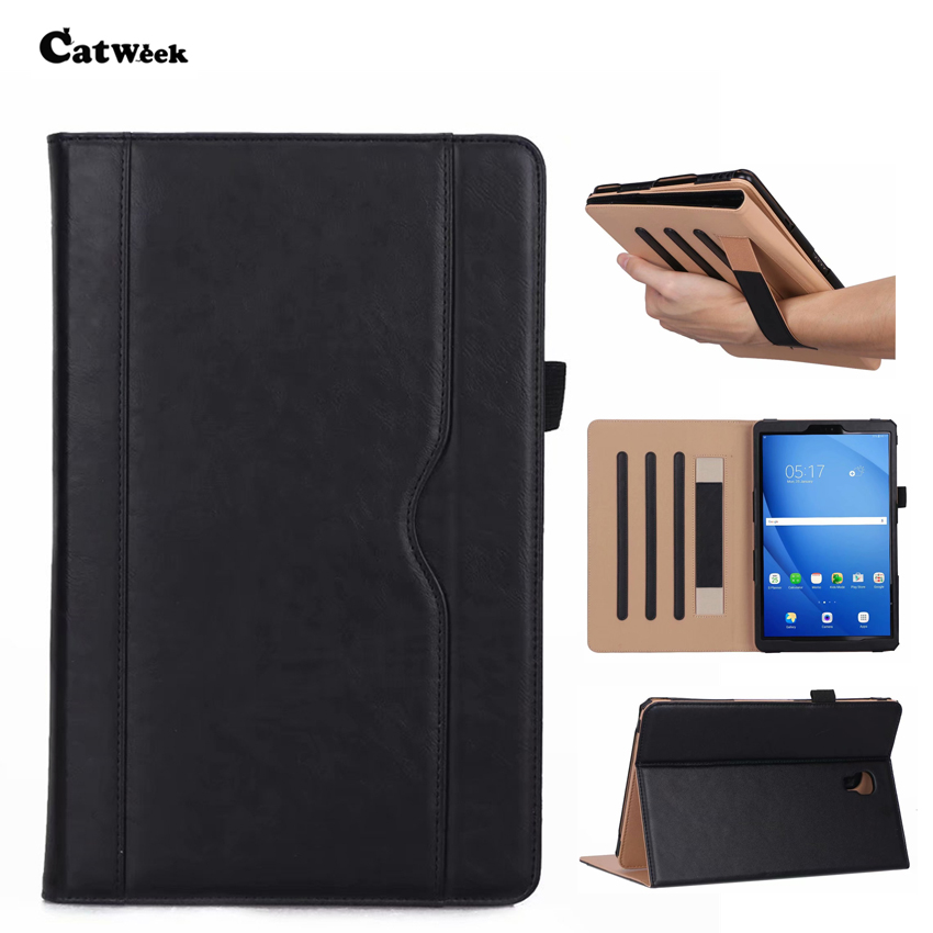 <font><b>SM</b></font> <font><b>T590</b></font> PU Leather Wallet <font><b>Case</b></font> Cover Slim Skin For Samsung Galaxy Tab A 10.5'' <font><b>T590</b></font> T595 T597 Tablet Smart Fundas Protect Stand image