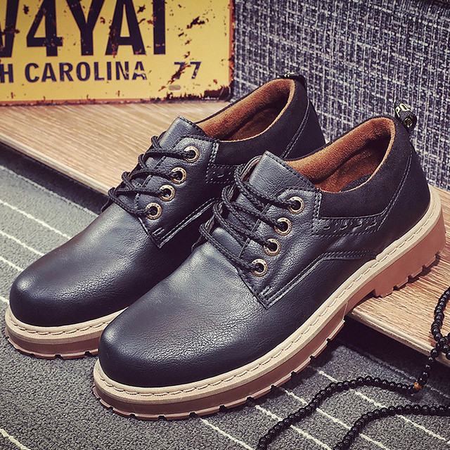 Brand shoes men solid round toe sewing casual shoes cotton fabric lace-up ankle boots rubber non-slip autumn boots massage