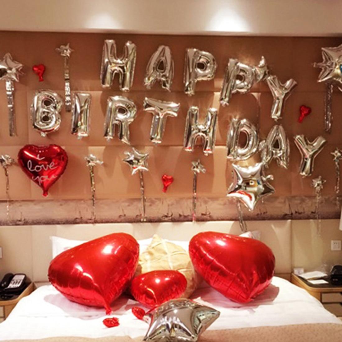 Aluminum Foil HAPPY BIRTHDAY Balloon Alphabet Balloons Birthday Party Decor (Onl