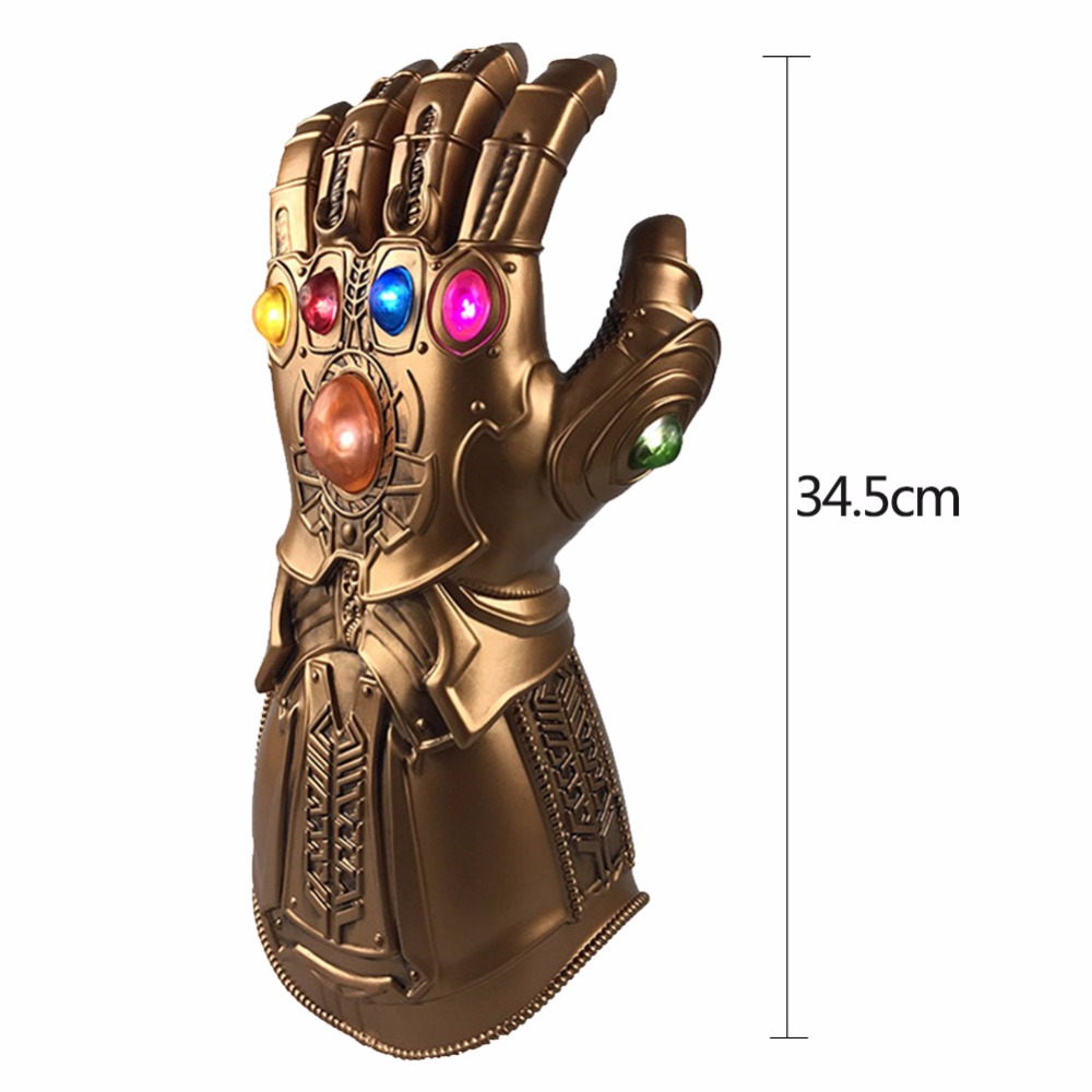 Infinity Gauntlet  Avengers 4 War Infinity Gauntlet LED Light Thanos Gloves Cosplay Prop Figure Model Toys Gift birthday Props