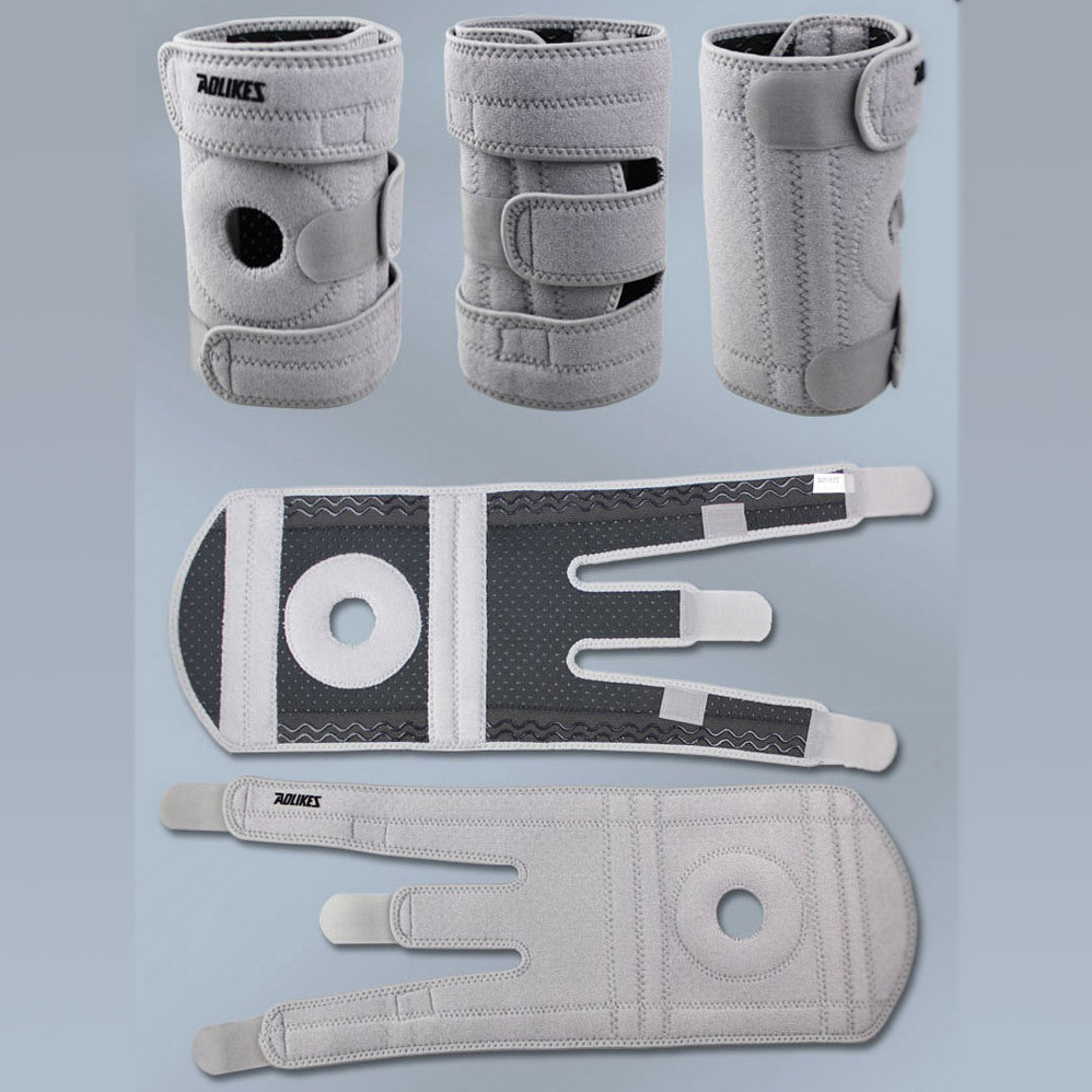 Professional Protection for The Sports Hinged <font><b>Knee</b></font> Brace Adjustable Sports Leg <font><b>Knee</b></font> Support <font><b>Knee</b></font> Pads Left Foot Gray Z22001