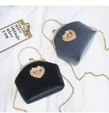 Bolso de mano de terciopelo con perlas para mujer, bolsa de noche con diseño de corazón de terciopelo Vintage, para boda, fiesta, novia, de terciopelo