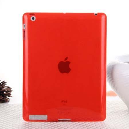 Hot Sale Fashion Jelly Color Transparent Silicon Back Cover for iPad 2 iPad 3 iPad 4