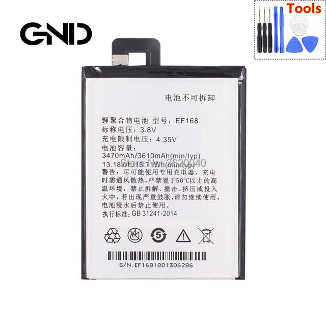 GND 3610 mAh/13.71Wh 3.8 V EF168 Thay Thế Pin Cho PPTV Kings 7 King7 PP6000 Li-Ion Bateria Li- polymer điện thoại di động Baterie