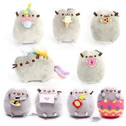15 см суши кошка плюшевые игрушки пончики кошка Печенье Мороженое Радужный торт стиль плюшевые мягкие животные игрушки для детей подарок