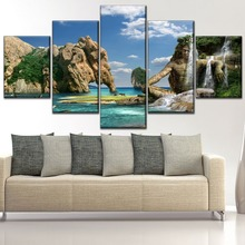 Man and elephant Modern Decor Landscape Painting Home Picture Wall Art Canvas HD Printed Paintings