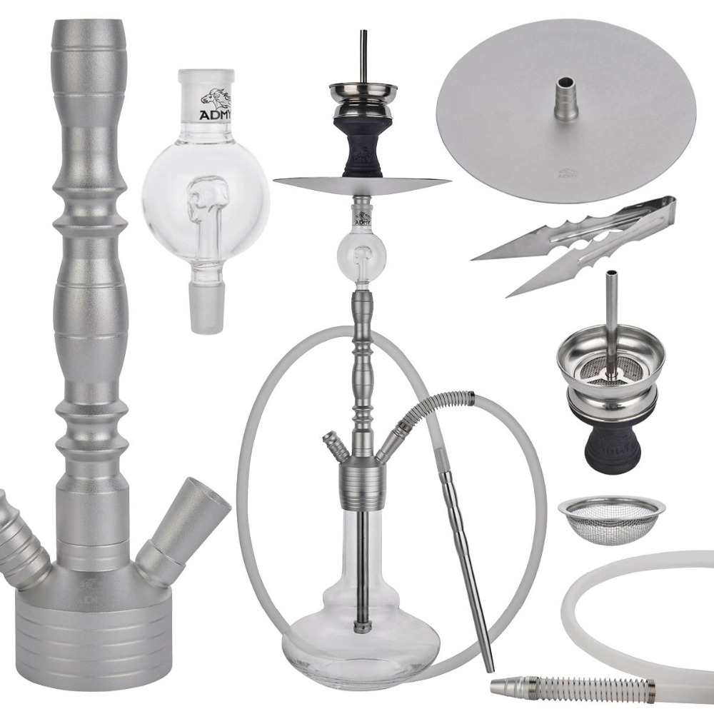 Glass Hookahs Shisha Smoking Shishas Water Pipe Hose Remote Multicolor Russian Style Complete Set Tobacco for