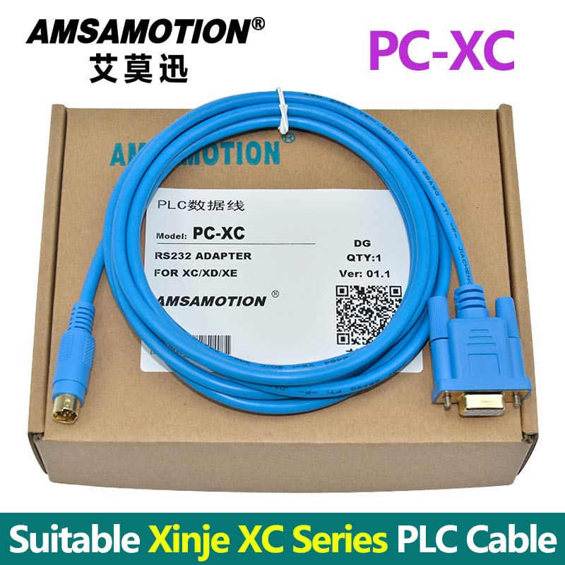 PC-XC Suitable Xinje PLC Programming Cable Support XC1 XC2 XC3 XC5 Series Communication Cable PC-DVP Convert Cable hitech screen yonghong fbe plc communication cable