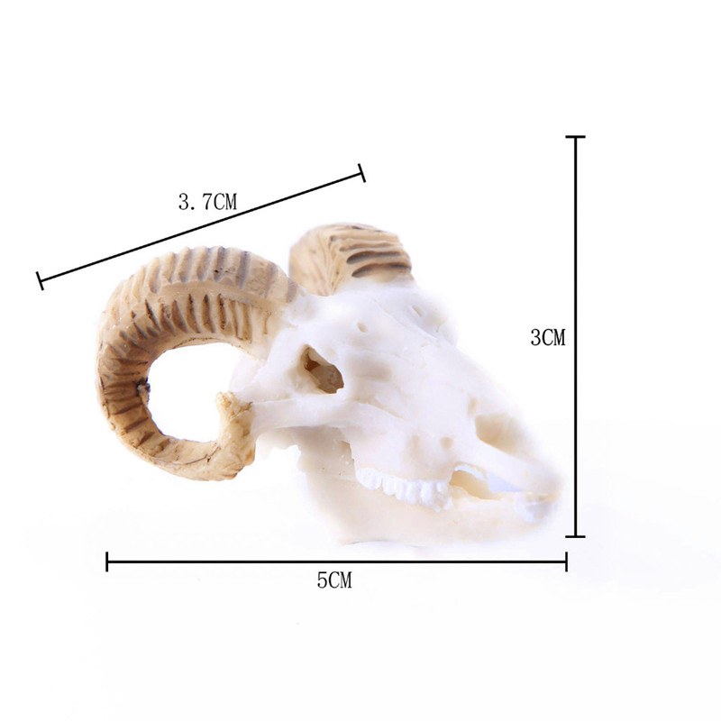 BUF Resin Craft Fish Tank Decoration Goat Skull Statues Creative Bar Decoration Skull Sculpture Creative Fish Tank Ornaments
