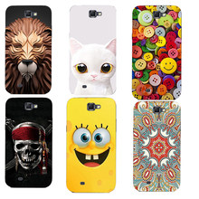 for Samsung Galaxy Note 2 N7100 Note2 Lovely soft silicone Case For Samsung Galaxy Note 2 Printed Phone Protective Bags(China)