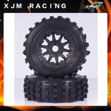1/5 Scale RC KM RV HPI Baja 5T/ 5SC Front knobby wheel tyres x 2 pcs free shipping