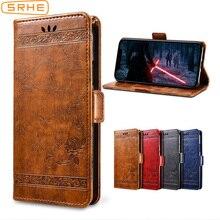 SRHE Flip Cover For Leagoo M9 Case 5.5 inch Silicone Leather Wallet Magnet Vintage LEAGOO M 9 LeagooM9