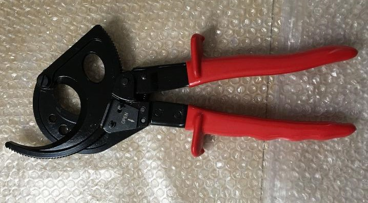 Ratchet cable cutter HS-520A Cutting range:400mm2 max , Not for cutting steel or steel wire  ratchet style and aluminum wire cable cutter maintenance tools hs 520a