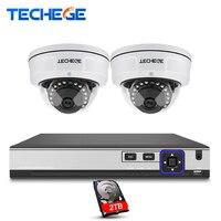 Techege CCTV System 4CH 4K POE NVR 4MP POE IP Camera Vandalproof IR Night Vision Motion