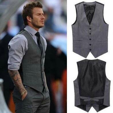 Free shipping Elegant Spring Mens Vest Fashion Casual Business Men Slim Button Vest Coat WaistCoat