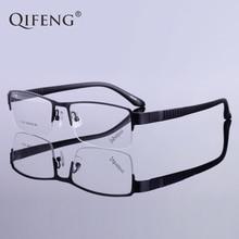 QIFENG Spectacle Frame Eyeglasses Men Korean Myopia Computer Optical Prescription Clear Lens Eye Glasses For Male QF154