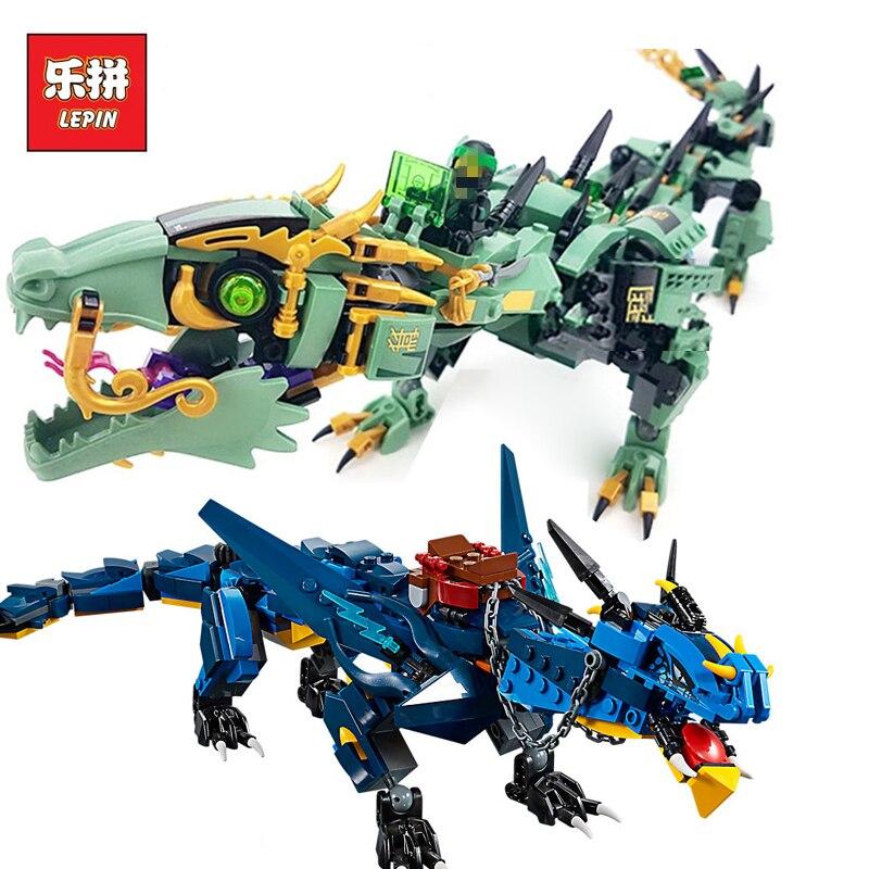 Lepin 06080 06051 Ninjagoings Serie Stormbringer Set Drago Compatibile Legoingly 70652 70612 Blocchi di Costruzione di Mattoni giocattoli per bambini