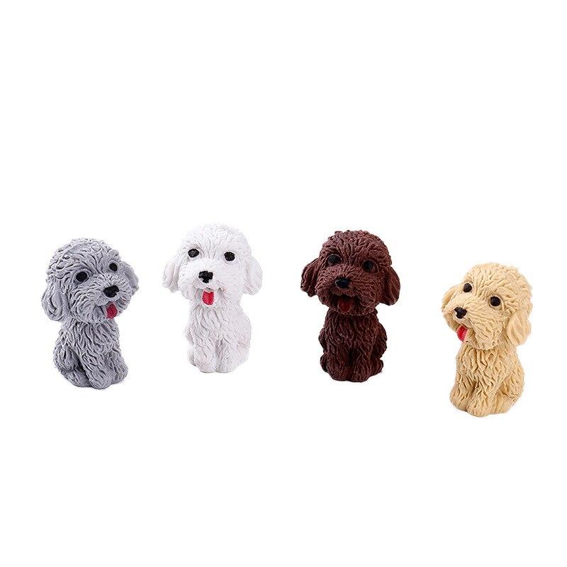 Cute Cartoon Teddy Dog Eraser Imitation Dog Can Insert Pencil Eraser Children's Gift Prizes