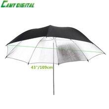 43″/109cm Reflector umbrella Photo Studio Flash Light Grained Black Silver Umbrella