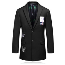 2016 new style men's leisure High quality suits jackets Trench coat Men printing stripe wool Casual Coat Men's Blazers