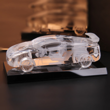 hot deal buy 13cm handmade crystal car model for car home decor figurines miniatures craft desktop decoration
