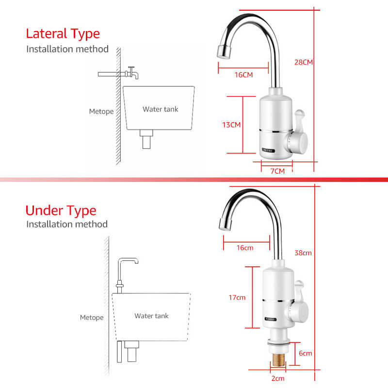 animore instant electric water heater bathroom/kitchen electric hot water  tap hot cold dual-