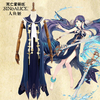 Halloween Costumes SINoALICE Mermaid warrior Cosplay Costume Japanese Anime Game Uniform Suit Outfit Clothes Mermaid Full set