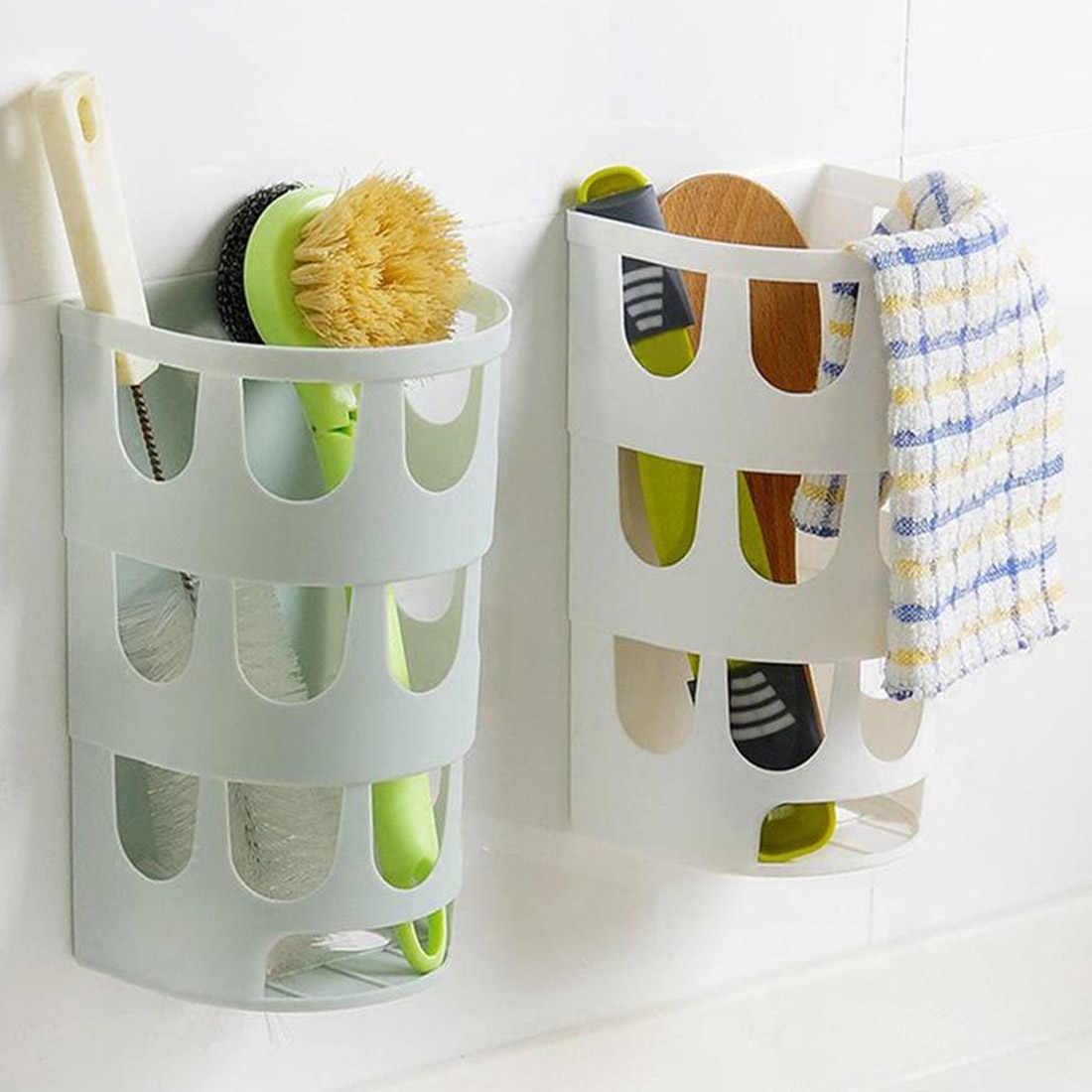 1 Pc Keuken Servies Diversen Organizer Multifunctionele Wand Gemonteerde Vuilniszakken Lade Opbergdoos Plastic Zakken Houder Rack