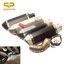 Motorcycle Exhaust System Muffler Escape Moto DB Killer Middle Link Pipe For Honda CB1000R CB 1000R 2010- 2012 Slip-on Akrapovic akrapovic motorcycle exhaust db killer exhaust muffler and stainless steel middle link pipe whole set for honda cbr500 300r