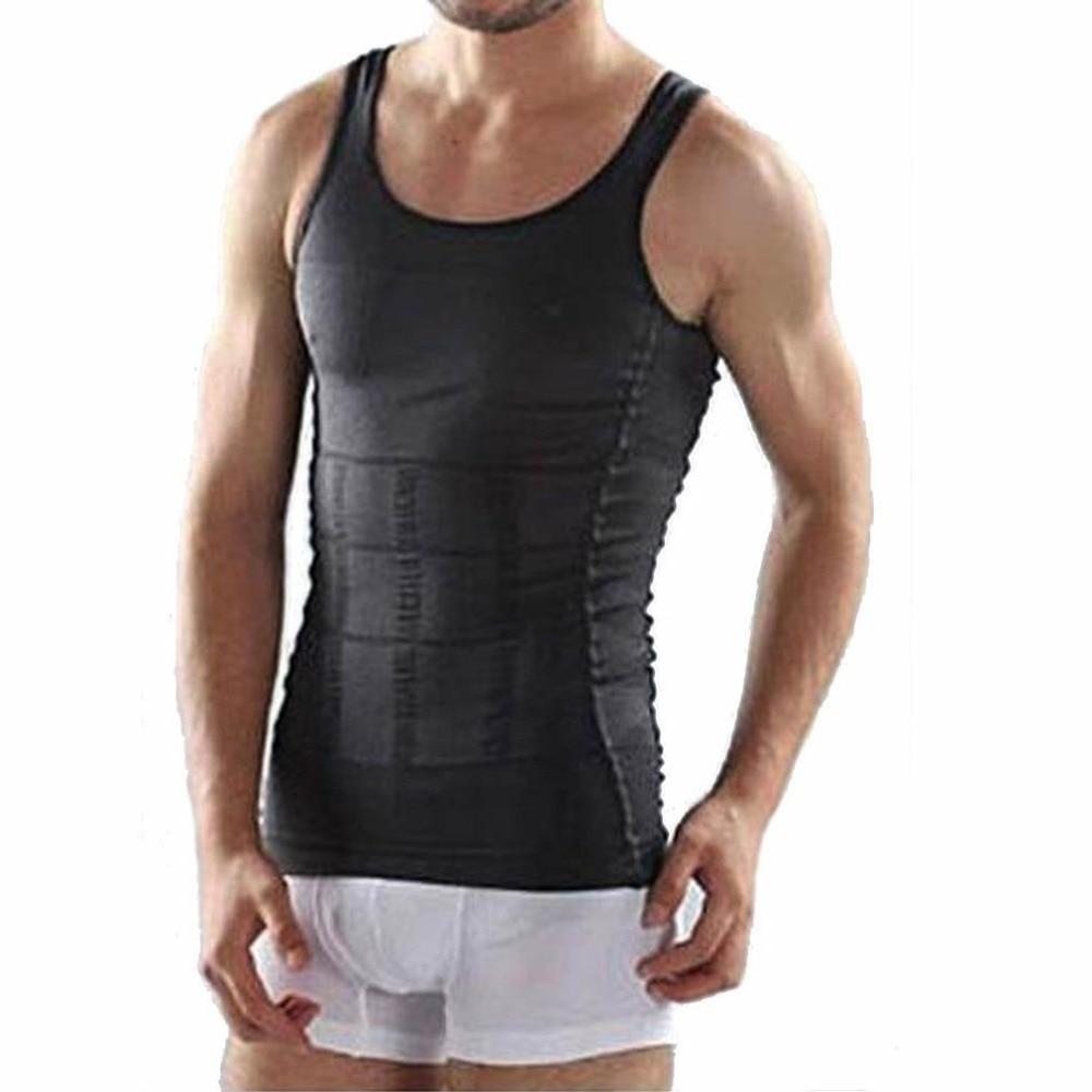 2018 Men Corset Body Slimming Wraps Tummy Shaper Vest Belly Waist Girdle Shapewear Underwear Weight Loss Product steel boned brocade corset vest