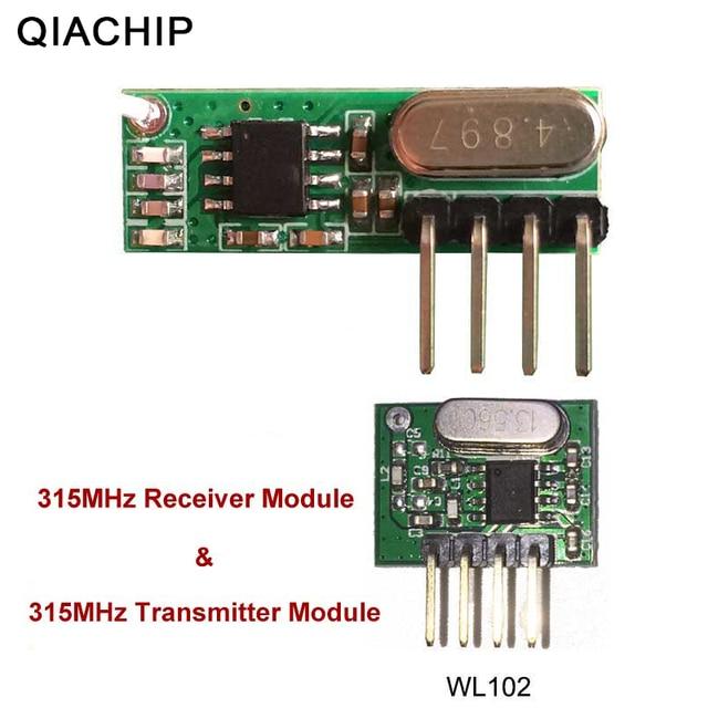 QIACHIP 315 МГц RF передатчик и приемник супергетеродина UHF ASK дистанционное управление модуль комплект Smart низкая мощность для Arduino/ARM/MCU