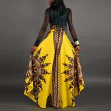 Summer African Print Skirt Women Bohemian Long Dress Party Maxi Africa Traditional Dresses Yellow Red Skirts Plus Size New