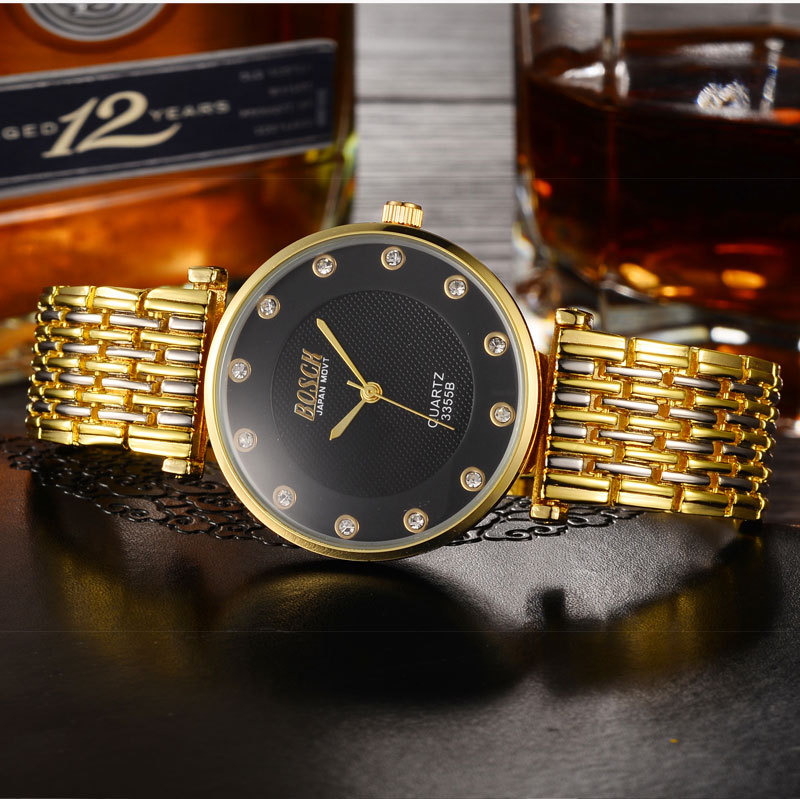 Genuine tungsten steel watch waterproof 2019 new fashion trend simple atmosphere rose gold quartz watchGenuine tungsten steel watch waterproof 2019 new fashion trend simple atmosphere rose gold quartz watch