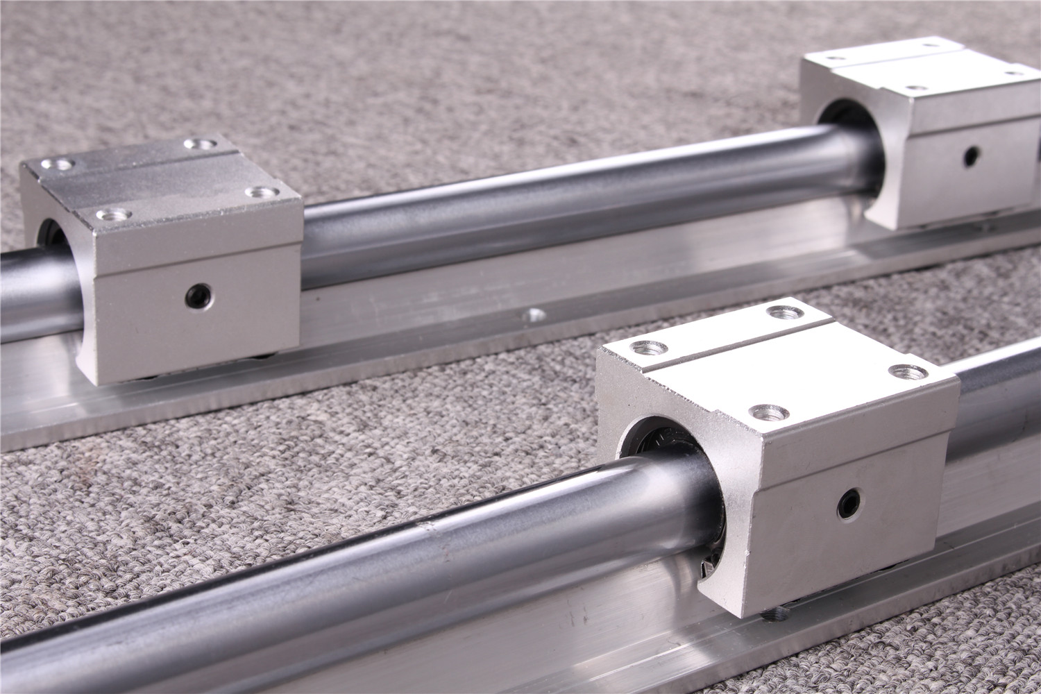 2Pcs SBR20 200 1500mm Linear Rail Fully Supported Slide Shaft Rod with 4Pcs SBR20UU Block in Linear Guides from Home Improvement