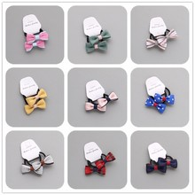 2PCS Creative Little Bowknot Girls Hair Accessories Princess Headwear Children Hair Ropes Baby Headdress Kids Elastic Hair Bands
