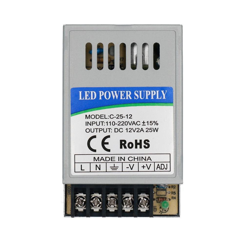 24W LED Driver DC12V 2A DC24V 1A For LEDs Power Supply Constant Current Voltage Control Light Transformers For LED Strip And DIY