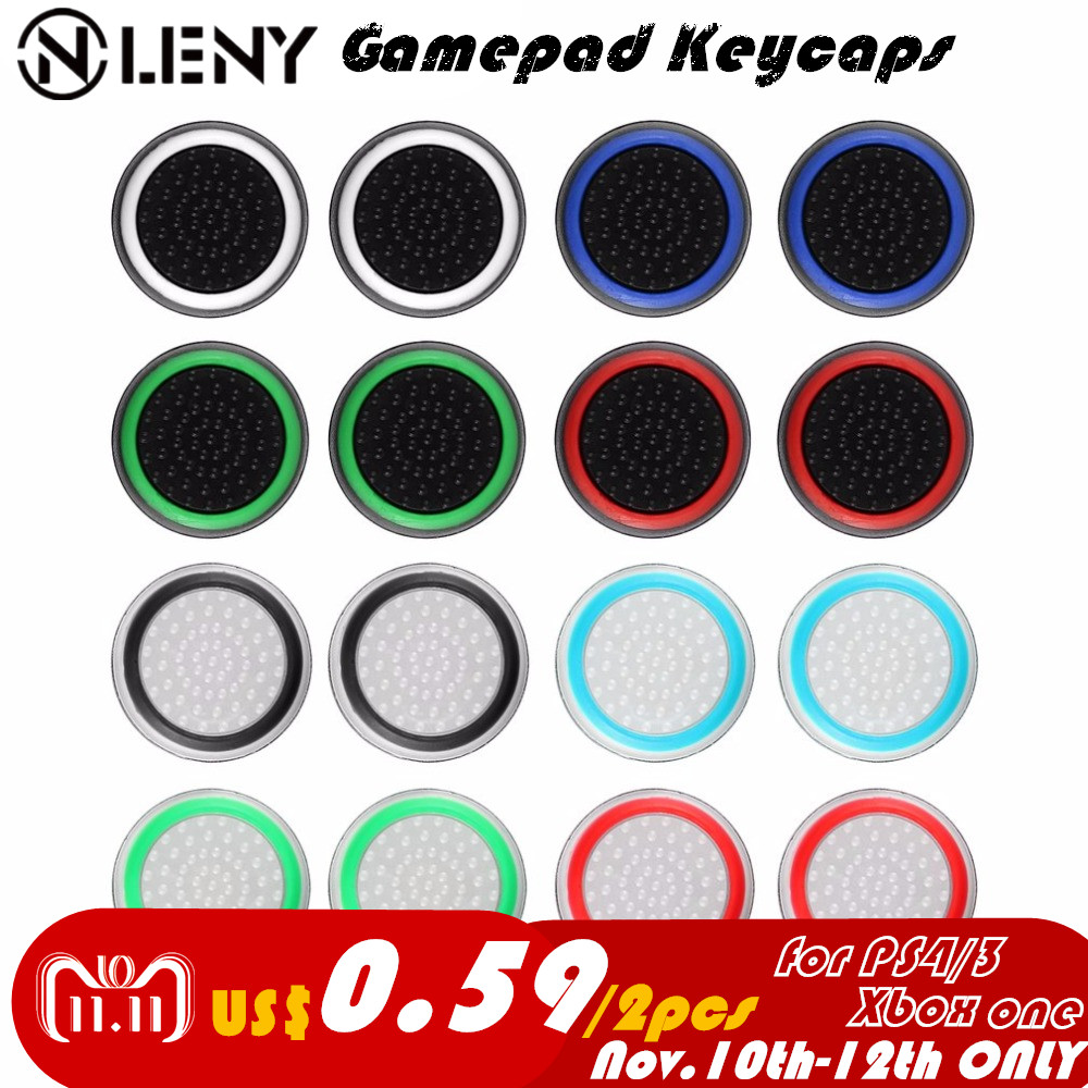 2pcs Game Keycap for PS4/3 Accessory Protect Cover Silicone Thumb Stick Grip Caps for Xbox 360 for Xbox one Game Controllers wearable controller accessory kits button caps for ps4 xbox one 8pcs