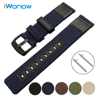 22mm 24mm Canvas Nylon Genuine Leather Watchband For Certina Victorinox Tissot Watch Band Quick Release Strap